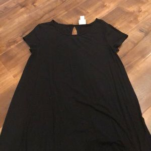 Black T-Shirt dress.